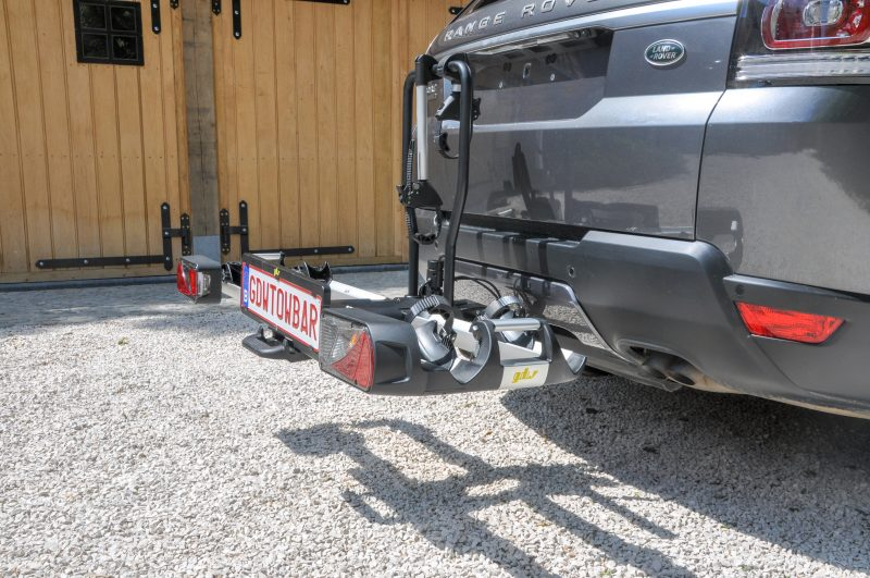Placing the license plate holder