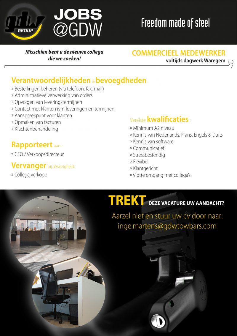 Vacature Commercieel Bediende Nieuwe Layout 01