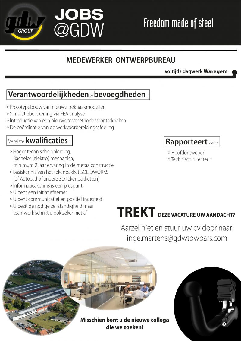 Vacature Medewerker Ontwerpbureau Vervanger Thijs Vm